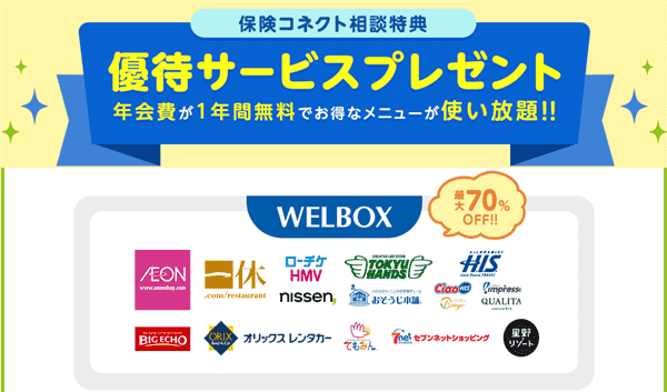 保険コネクトキャンペーンWELBOX